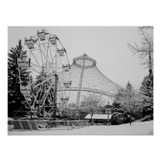 FERRIS WHEEL and R F P PAVILION - SPOKANE Poster