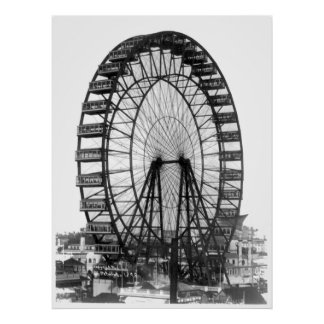 Ferris Wheel at Chicago World's Fair Poster