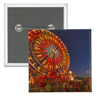 Ferris wheel at dusk at the Northwest Montana 2 Inch Square Button