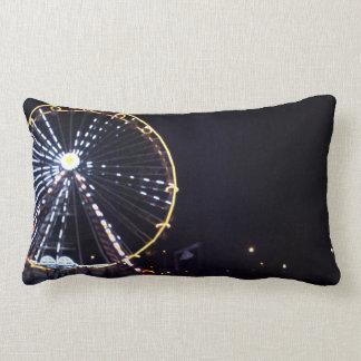 Ferris wheel at Night Lumbar Pillow