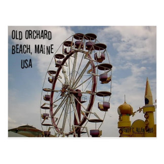 Ferris Wheel at Palace Playland Old Orchard Beach Postcard