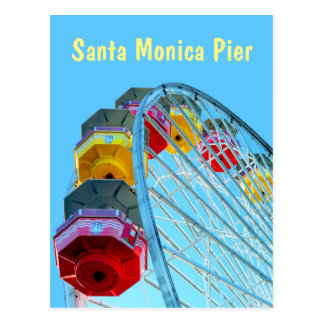 Ferris Wheel at Santa Monica Pier, California Postcard