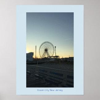 Ferris Wheel at Sunset Ocean City New Jersey Poster