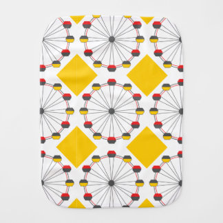 Ferris Wheel Burp Cloth