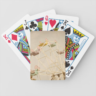 Ferris wheel child size bicycle playing cards