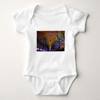 Ferris Wheel Christmas Lights Baby Bodysuit