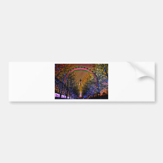 Ferris Wheel Christmas Lights Bumper Sticker