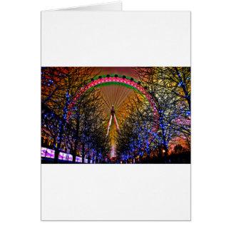 Ferris Wheel Christmas Lights Card