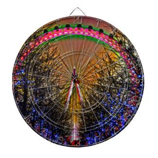 Ferris Wheel Christmas Lights Dartboard