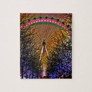 Ferris Wheel Christmas Lights Jigsaw Puzzle