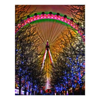 Ferris Wheel Christmas Lights Letterhead