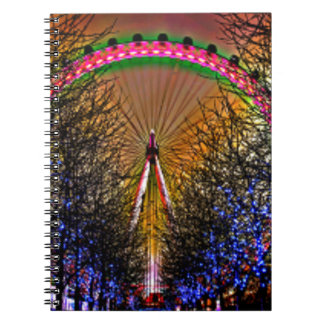 Ferris Wheel Christmas Lights Notebook