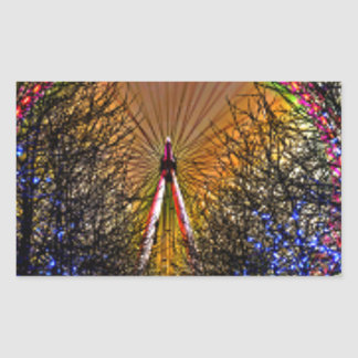 Ferris Wheel Christmas Lights Sticker