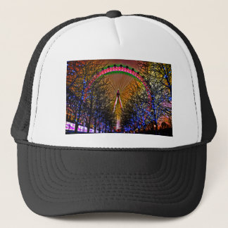 Ferris Wheel Christmas Lights Trucker Hat