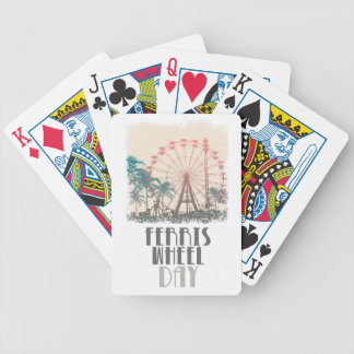 Ferris Wheel Day - Appreciation Day Bicycle Playing Cards