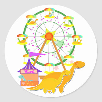 Ferris Wheel Dinosaurs Stickers