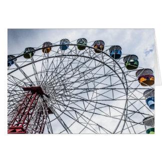 Ferris Wheel greetings card