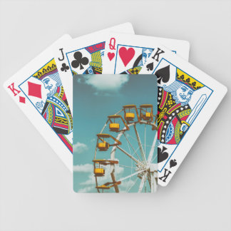 Ferris Wheel In Fun Park On Blue Sky Bicycle Playing Cards