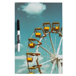 Ferris Wheel In Fun Park On Blue Sky Dry Erase Board