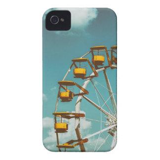 Ferris Wheel In Fun Park On Blue Sky iPhone 4 Case-Mate Case
