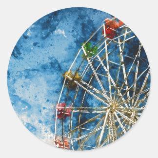Ferris Wheel in Santa Cruz California Classic Round Sticker