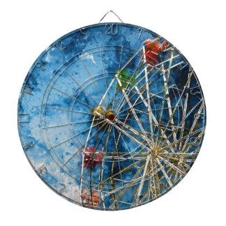 Ferris Wheel in Santa Cruz California Dartboard