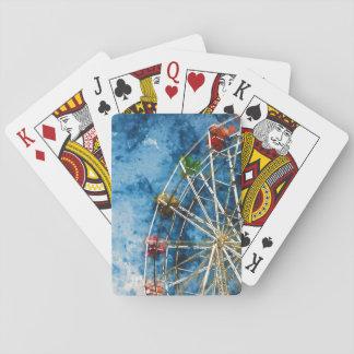 Ferris Wheel in Santa Cruz California Playing Cards