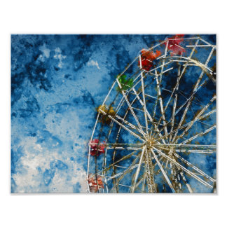 Ferris Wheel in Santa Cruz California Poster