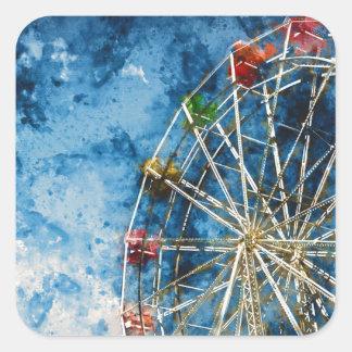 Ferris Wheel in Santa Cruz California Square Sticker