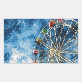 Ferris Wheel in Santa Cruz California Sticker