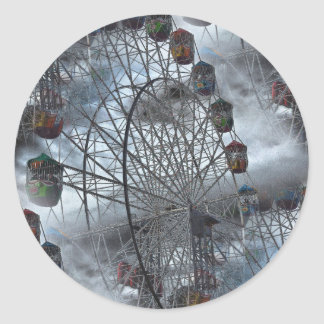 Ferris Wheel in the Clouds Classic Round Sticker