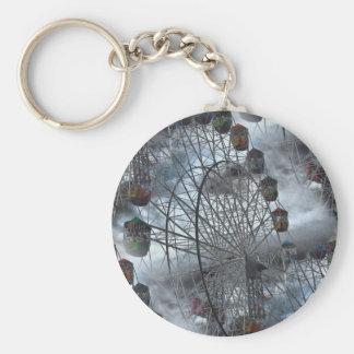 Ferris Wheel in the Clouds Keychain