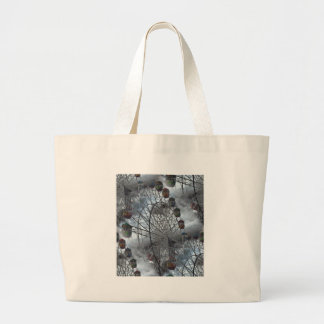 Ferris Wheel in the Clouds Large Tote Bag