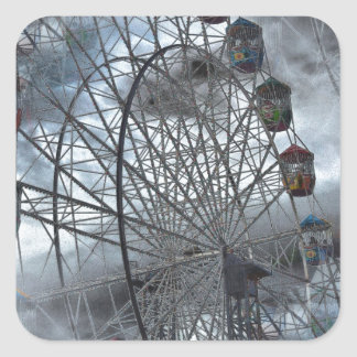 Ferris Wheel in the Clouds Square Sticker