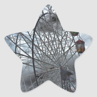 Ferris Wheel in the Clouds Star Sticker