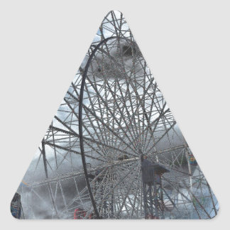 Ferris Wheel in the Clouds Triangle Sticker