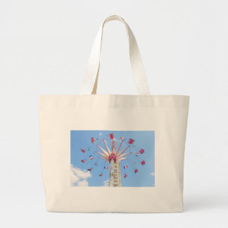 Ferris wheel large tote bag