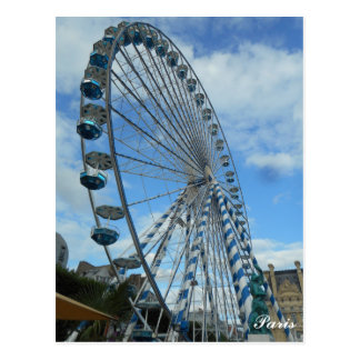 Ferris Wheel Paris Postcard