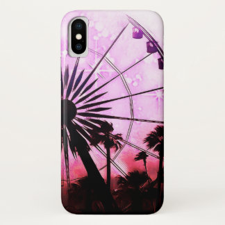 Ferris Wheel (Pink) iPhone X Phone Case
