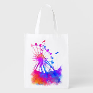 Ferris wheel reusable grocery bag