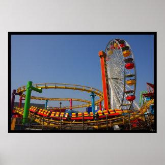 Ferris Wheel & Rollercoaster Poster