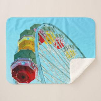 Ferris Wheel Sherpa Blanket