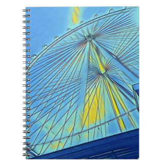 Ferris Wheel Spiral Journal or Notebook