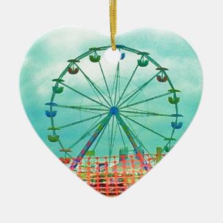Ferris Wheel Spring Fest Misquamicut Beach Ceramic Ornament