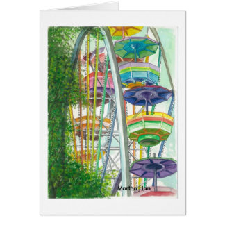 Ferriswheel in colors card