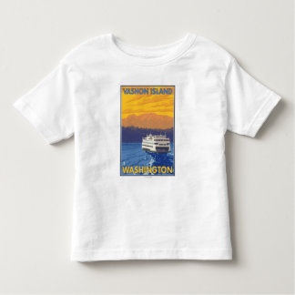 Ferry and Mountains - Vashon Island, Toddler T-shirt