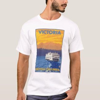 Ferry and Mountains - Victoria, BC Canada T-Shirt