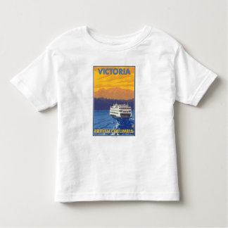 Ferry and Mountains - Victoria, BC Canada Tees