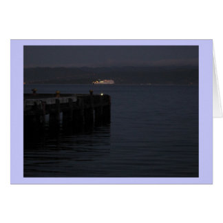 Ferry at Night Crossing Greeting Card