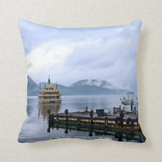 Ferry Boat, Lake Toya, Hokkaido, Japan Throw Pillow